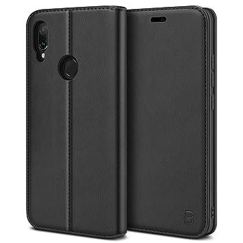 BEZ Funda Xiaomi Redmi Note 7, Carcasa para Xiaomi Redmi Note 7, Note 7s, Note 7 Pro Libro de Cuero con Tapa y Cartera, Cover Protectora con Ranura ...
