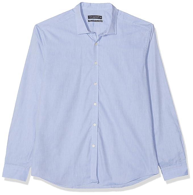 POLO CLUB Camisa Hombre Gentle Taylor Azul Celeste XL: Amazon.es ...