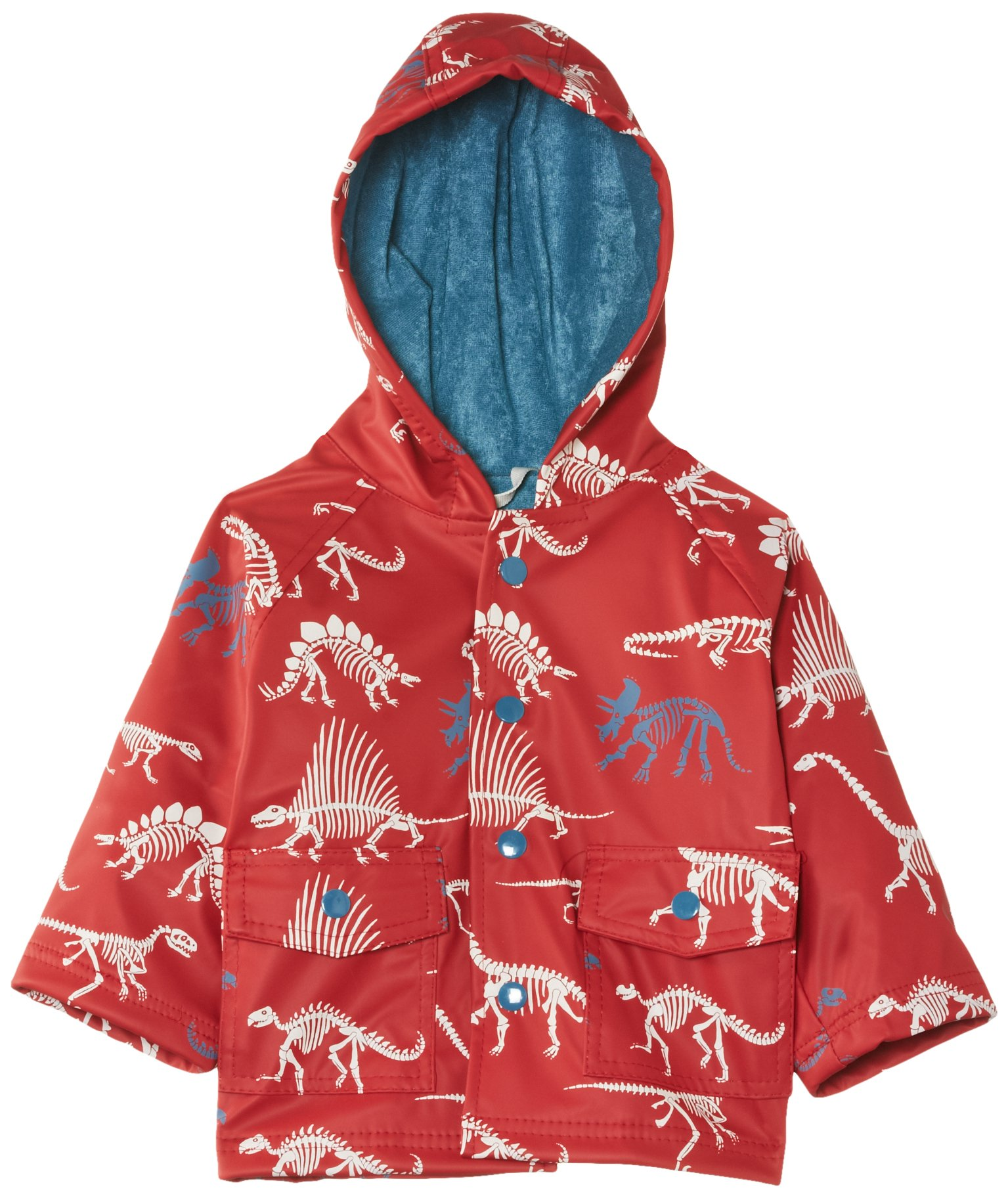 Hatley - Baby Baby Boys' Raincoat Dino Bones, Red, 24 Months by Hatley