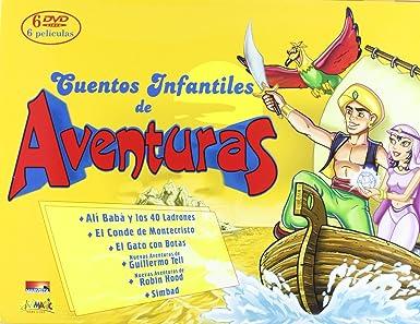 Cuentos infantiles de aventuras Maletín (6 DVD)
