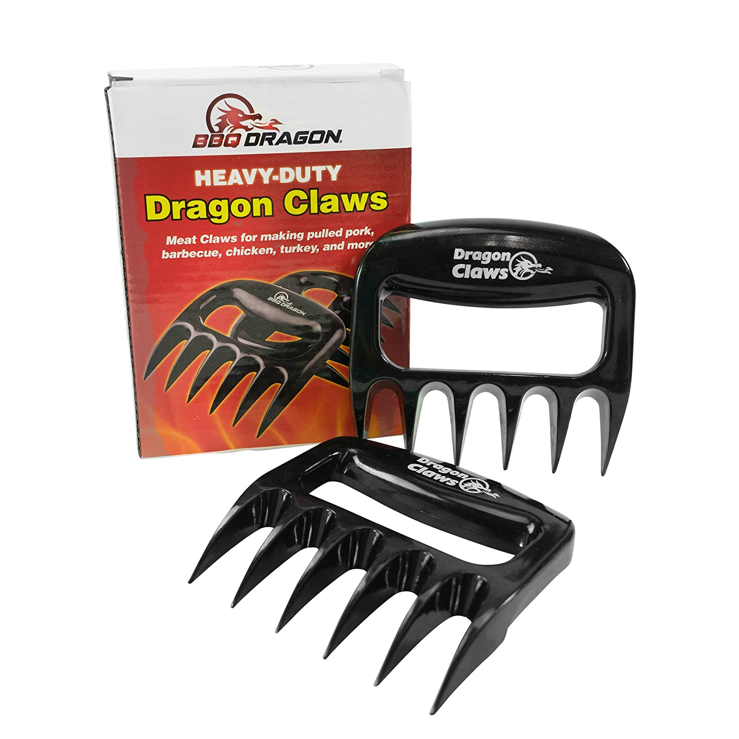 BBQ Dragon Dragon Claws Best for Shredding Meat, Barbecue Meat Claws, Pulled Pork Shredder Tool, BHA Free High Temperature Plastic, BBQ Grill Accessories, Chicken Shredder, BBQ Handler (1 Pair)