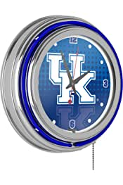 Trademark Gameroom University of Kentucky Chrome Double Rung Neon Clock - Reflection