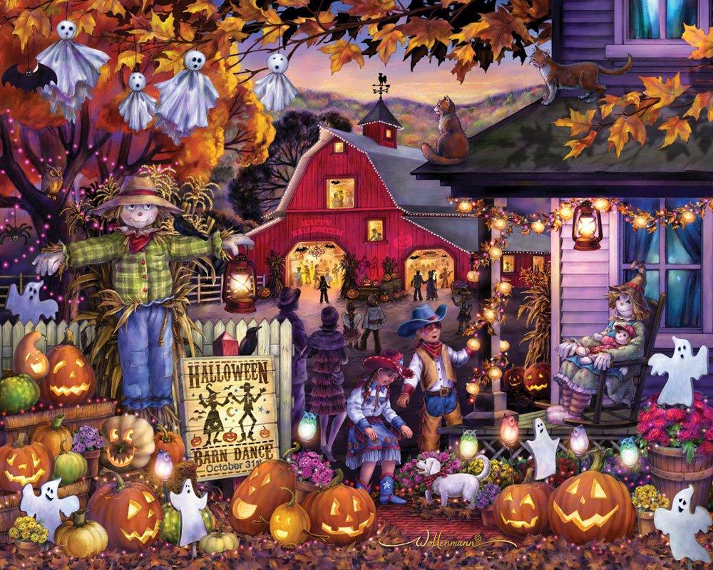 Vermont Christmas Company Halloween Barn Dance Jigsaw Puzzle 1000 Piece by Vermont Christmas Company
