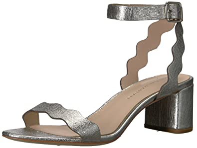 828d680f99d Loeffler Randall Women s EMI (Crinkle Metallic) Heeled Sandal Silver 10 ...
