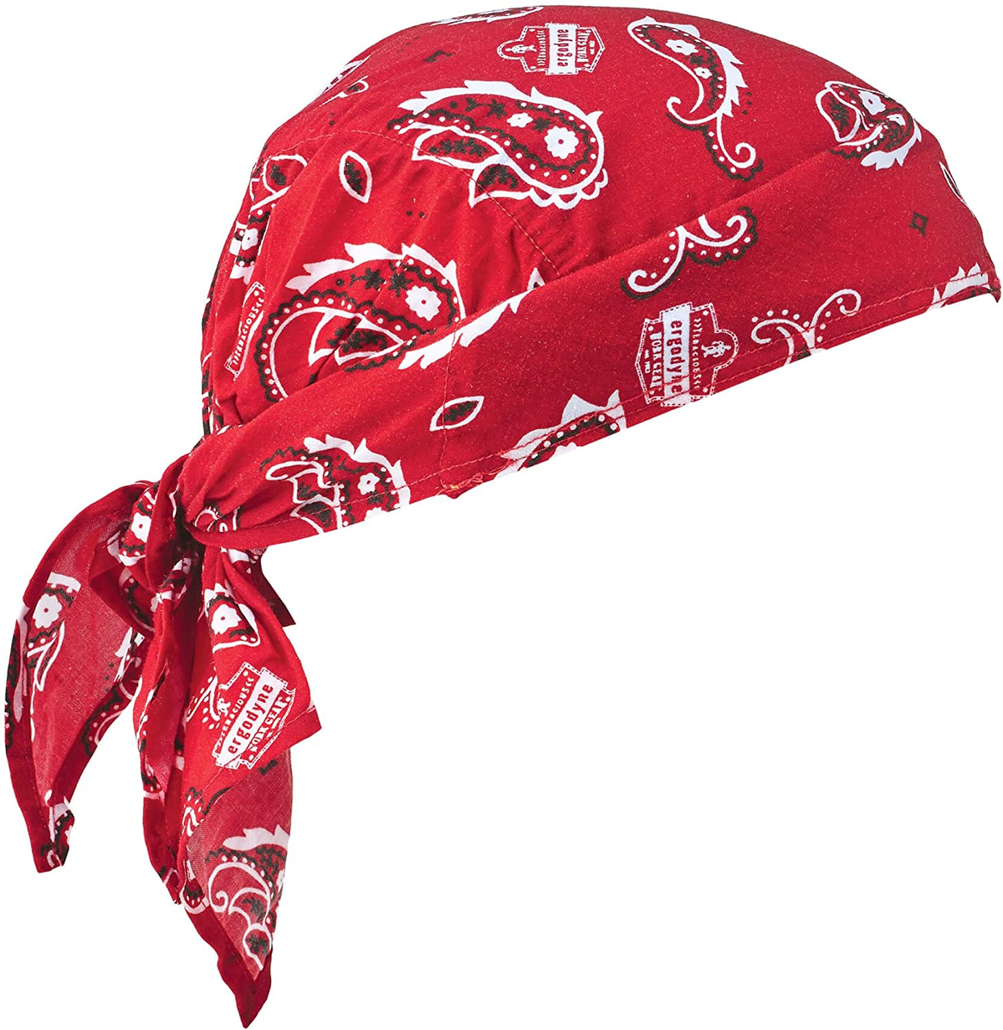 Ergodyne Chill-Its 6710CT Evaporative Cooling Dew Rag, Red Western