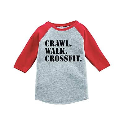 7 ate 9 Apparel Kids Crawl Walk Crossfit Red Baseball Tee