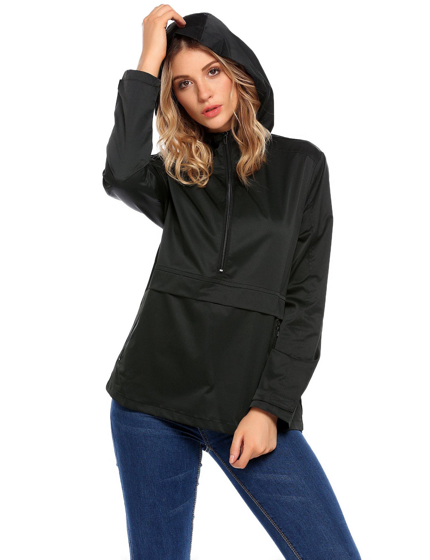 SummerRio Women's Waterproof Venture Resolve Softshell Rainwear Jacket (Black,Medium) by SummerRio (Image #4)