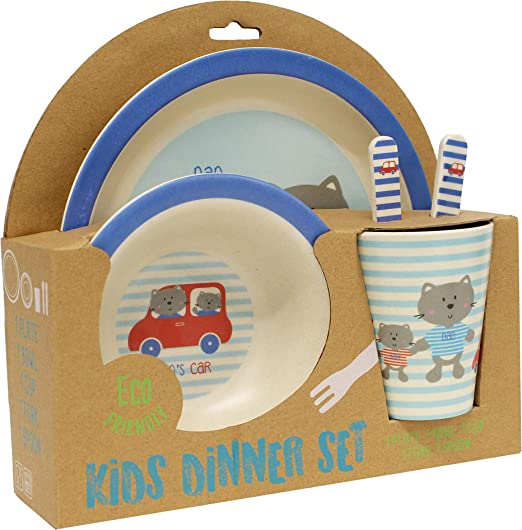 Amazon.com: Gourmet Home Products 198001 - Vajilla infantil ...