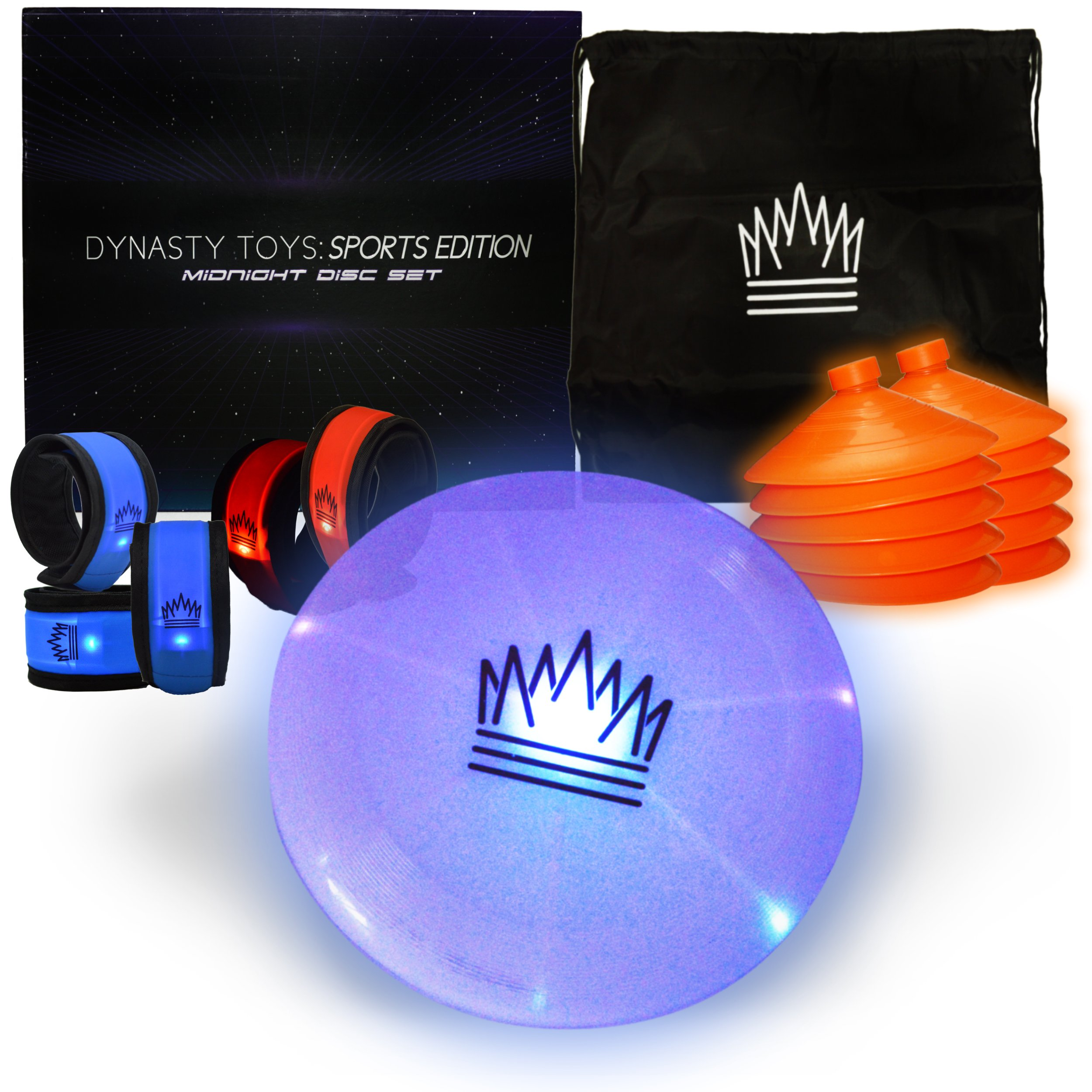 Outdoor Games At Night - LED Glow in the Dark Flying Disc Game. The Ultimate Night Time Event for Youth Groups and Glow Disc Throwing Aficionados by Outdoor Games At Night