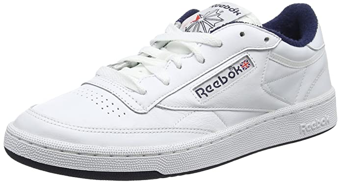 7664ac880f80 Reebok Men s Club C 85 Archive Low-top Sneakers White (White Collegiate Navy Excellent  Red) 7 UK  Buy Online at Low Prices in India - Amazon.in