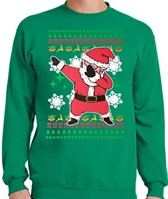 Mens 3x Ugly Christmas Sweater.Big And Tall Santa Or Guess What Chicken Butt Ugly Christmas Faux Sweater