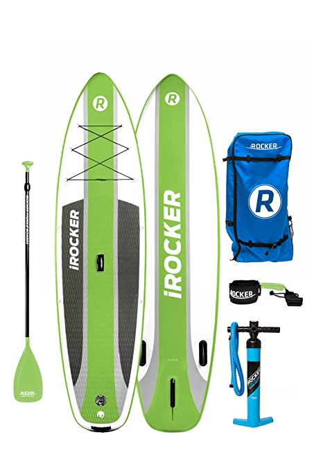 Paquete SUP de tabla de surf de remo hinchable iROCKER ...