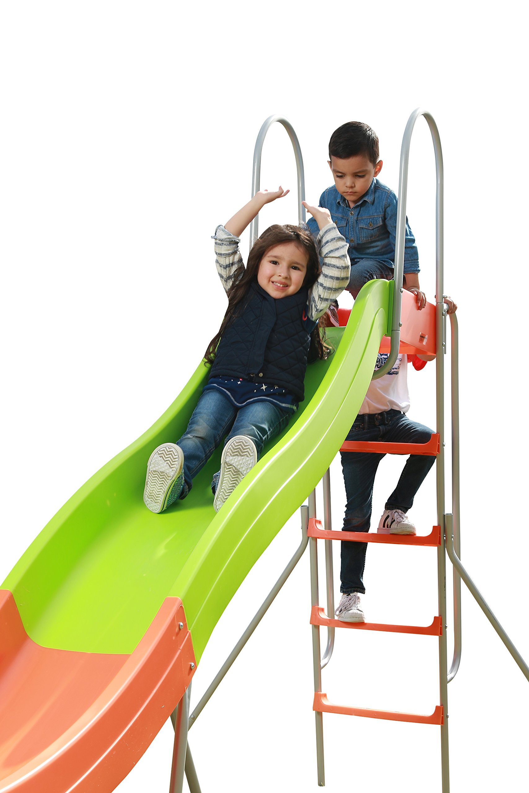 SLIDEWHIZZER 10ft Water Wavy Slide - Outdoor Playset and Toys for your kids, children, toddlers, preschool, boys or girls, Backyard Playground for Birthday/Easter/Parties