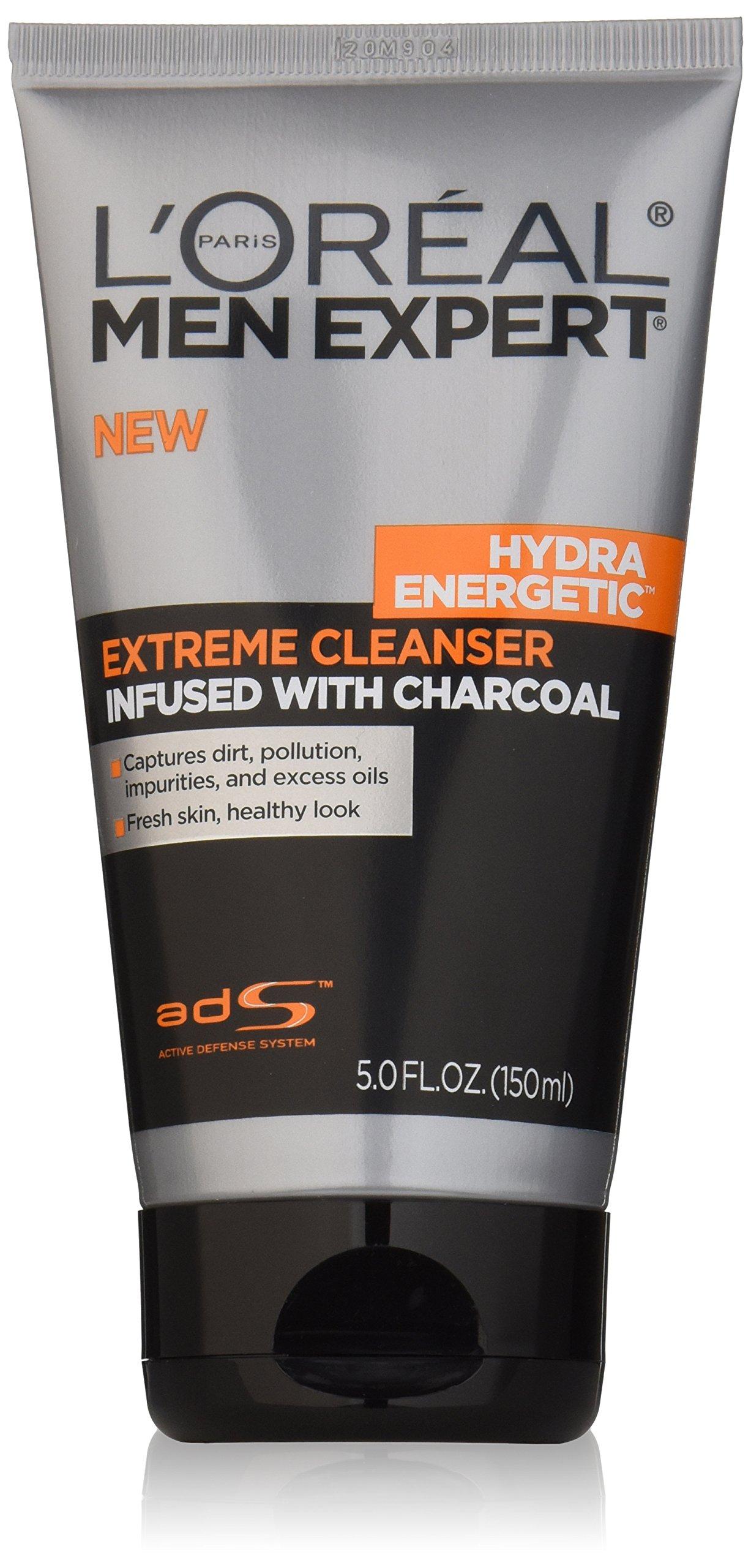 L'Oréal Paris Men Expert Hydra Energetic Charcoal Cream Cleanser, 5 fl. oz.