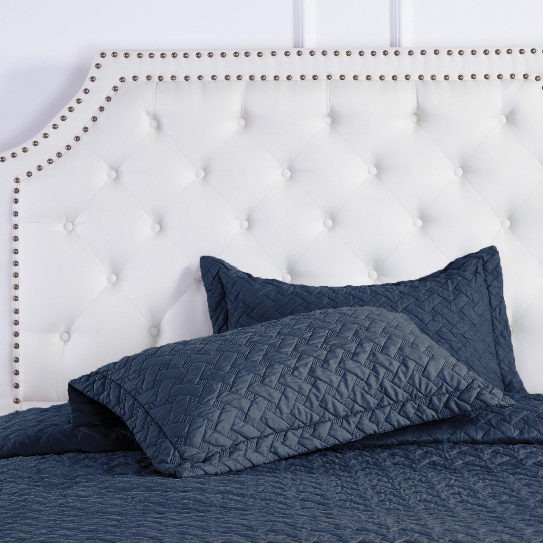 Amazon.com: Quilt Set Solid Navy Blue Full/Queen(86 x96 ... : solid navy quilt - Adamdwight.com