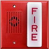 Wheelock Es Dl1 R Red 24vdc Fire Alarm Square Grille