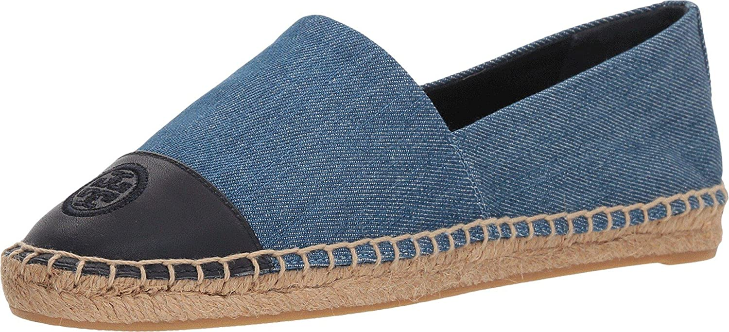 e402390f30b87 ... Tory Burch Women s Denim Color-Block Cap Navy) Toe Espadrilles (Denim  Chambray