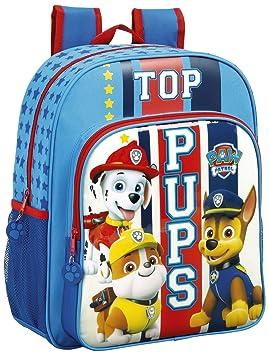 """Safta Mochila Escolar Junior Paw Patrol """"Top Pups"""" Oficial 320x120x380mm"""
