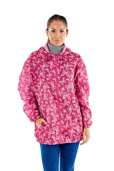 Ladies Proclimate Pack Away Kagoule Waterproof Coat In A Bag  Amazon.co.uk   Clothing 4e7908ac96
