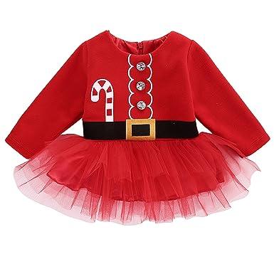 d010383b2df Tulle Robe en Couches Top Petite Fille Robe Ceinture décorée de Cristal de  Noël (2T