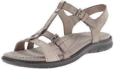 ECCO Babett, Women's T Bar Sandals, Beige, 10 UK: Amazon.co