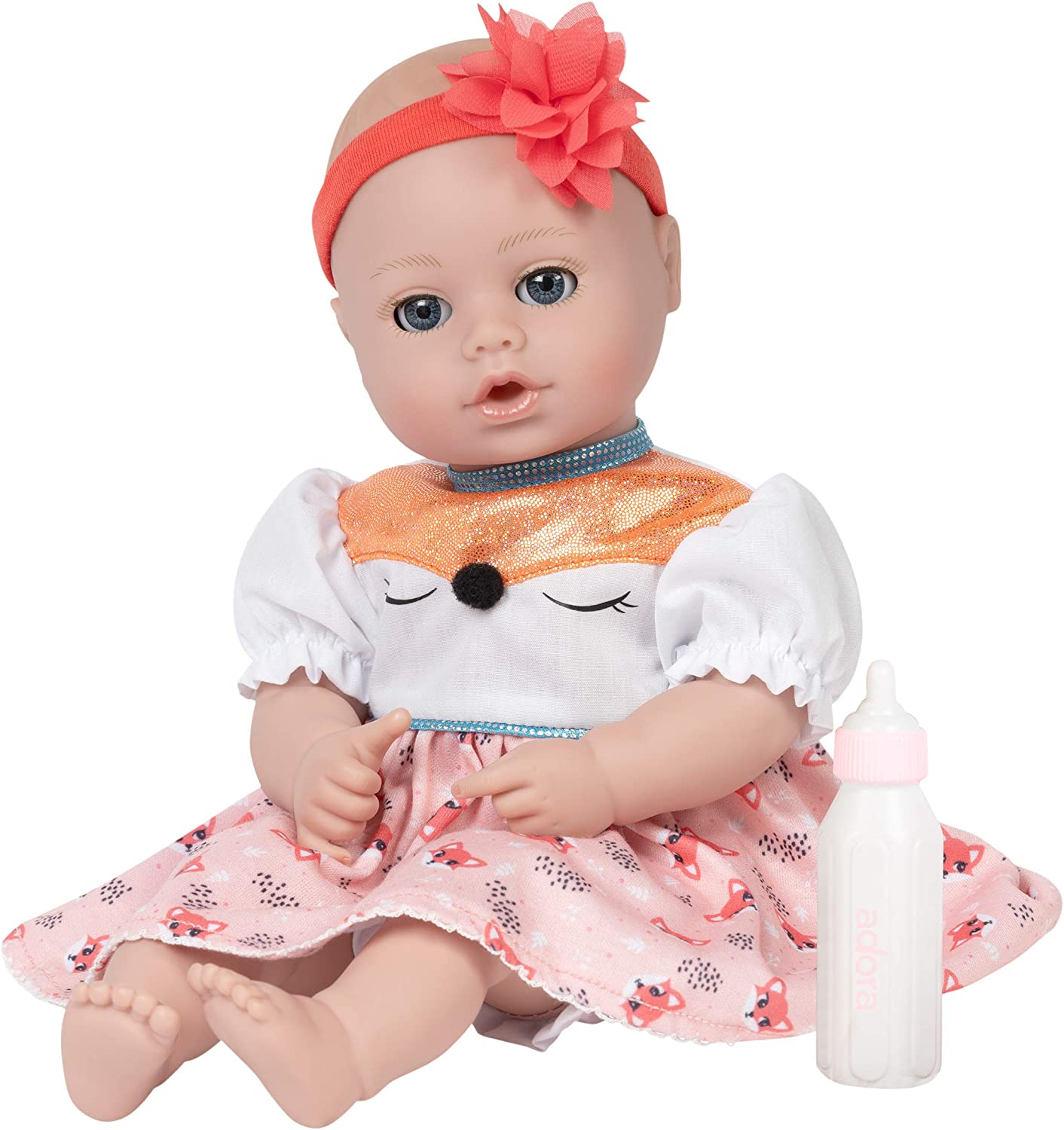 Adora My First Baby Doll - Playtime Whimsy Fox, 13 inches, Open Close Eyes, Can Suck Her Thumb