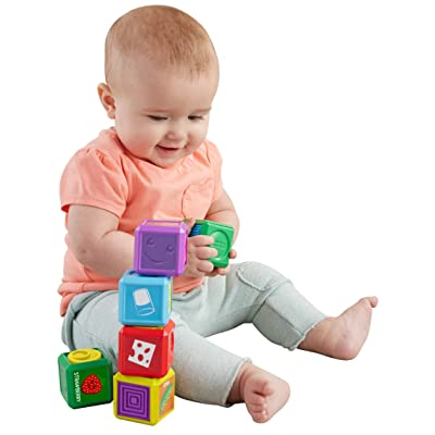 Fisher-Price Laugh & Learn First Words Food Blocks: Toys & Games