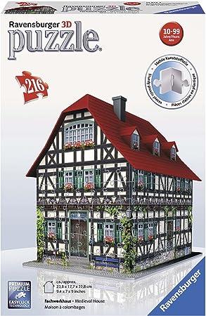 Ravensburger - Puzzle 3D Building: casa Medieval (12572 2): Amazon.es: Juguetes y juegos