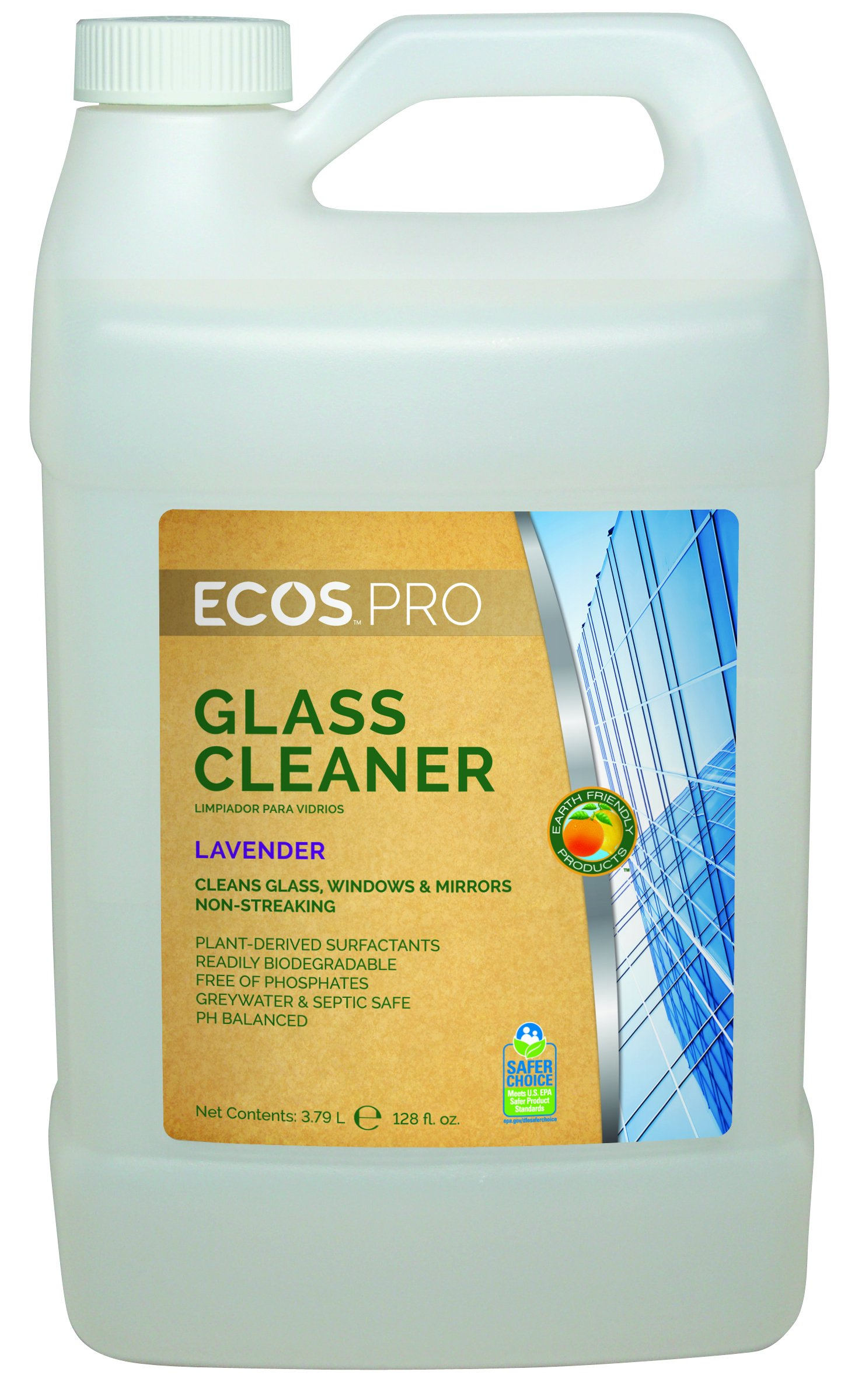 Earth Friendly Products Proline PL9301/04 Window Kleener Lavender Glass and Shiny Surface Cleaner, 1 gallon Bottles (Case of 4)
