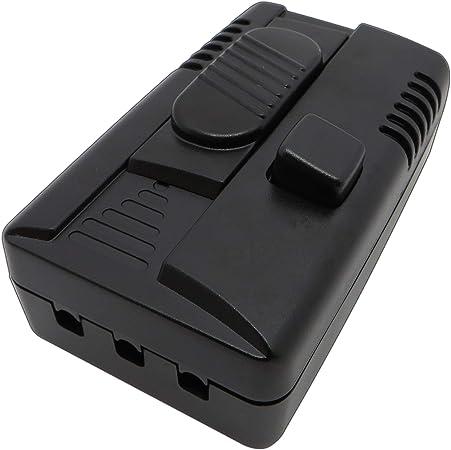 r/églable en continu Variateur dintensit/é lumineuse rotatif variateur de cordon silencieux pour ampoules LED /à intensit/é variable de 1 /à 60 W noir