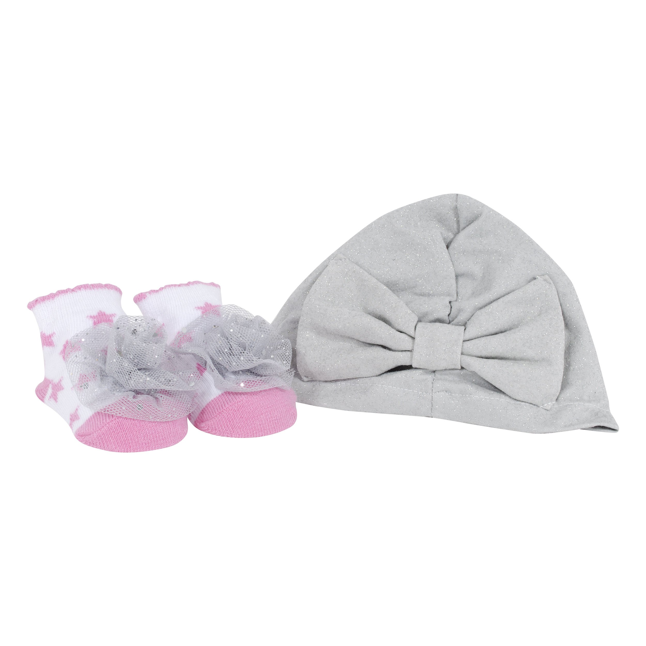 Limited Too 2 Piece Pink Hat & Fancy Feet Sock Set,size:One Size