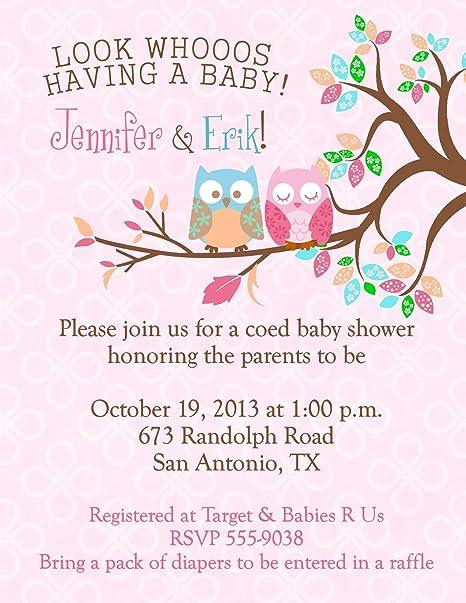 Amazon.com: Owl Baby Shower Invitations