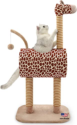 TOPKITCH Activity Cat Tree Condo with Scratching Posts , Activity Tower Cat Play House Furniture