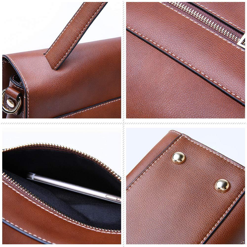 Woolala Ladies Messenger Bag for Work Shopping Vintage Satchel Purse Travel