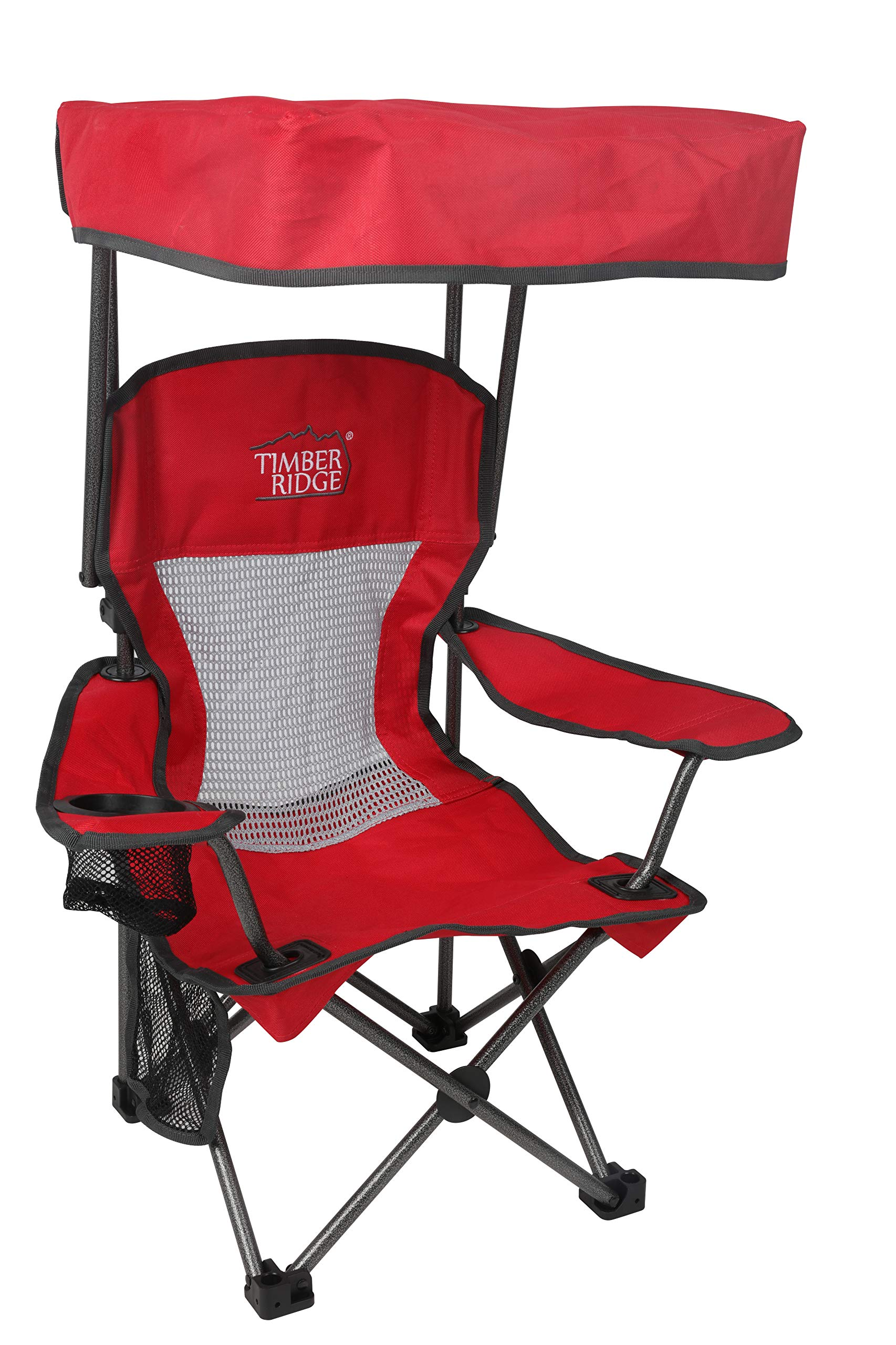 Westfield Outdoor Kid's Folding Chair with Canopy and Durable Carry Bag Red