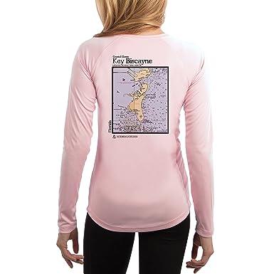 a8f499f2ff3 Altered Latitudes Coastal Classics Key Biscayne Chart Women s UPF 50+ Long  Sleeve T-Shirt