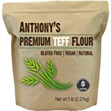 Anthony's Brown Teff Flour, 5 lb, Batch Tested Gluten Free