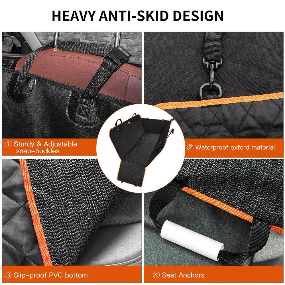 antiscivolo impermeabile Soft Car Ampio sedile posteriore Pet covers Amaca per automobili camion Siivton Lantoo Coprisedile per cani SUV con alette laterali