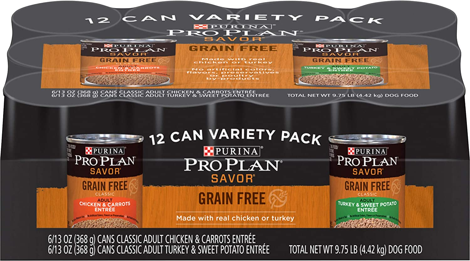 Purina Pro Plan Grain Free Adult Canned Wet Dog Food