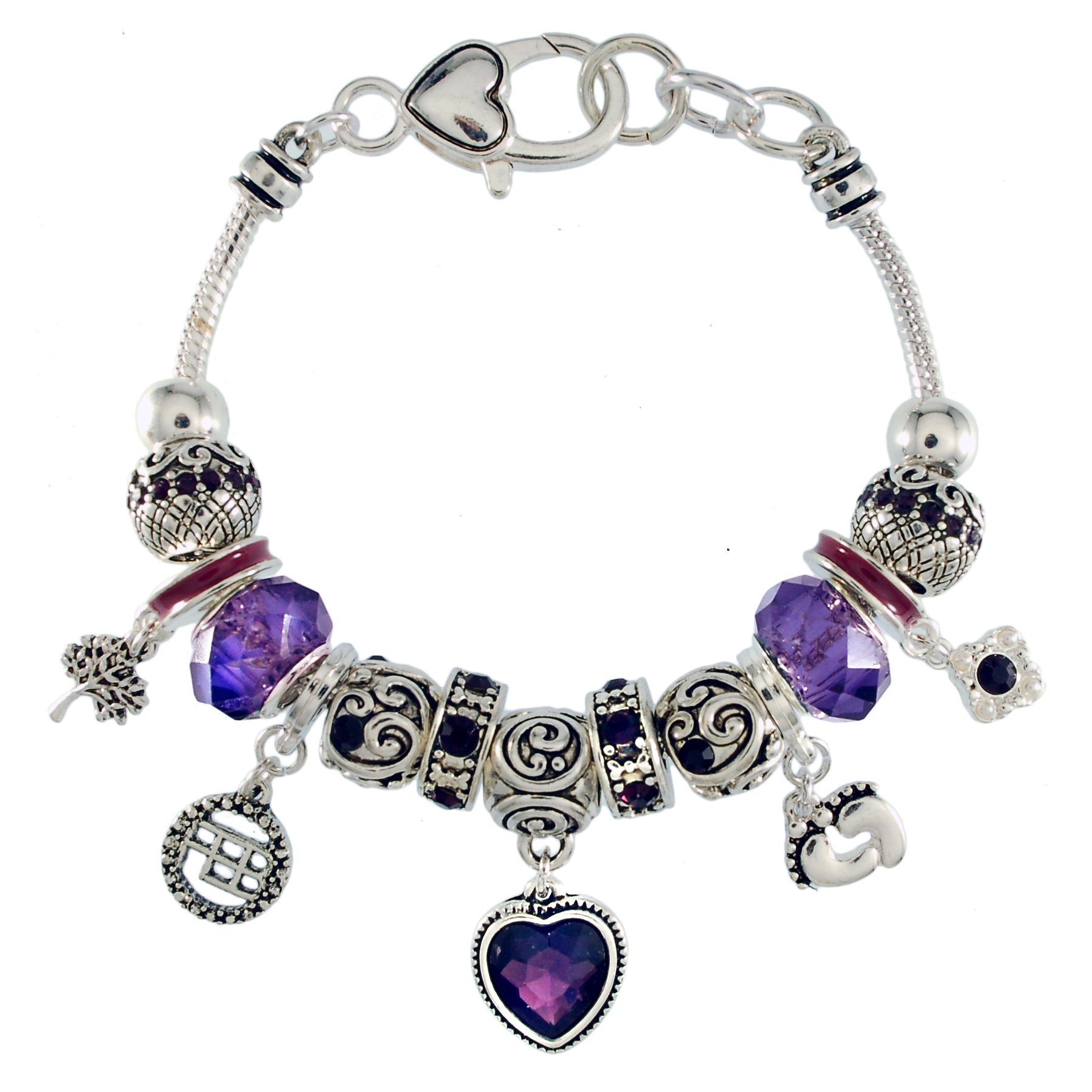 Landau Ambrosia February Birthstone Charm Bracelet