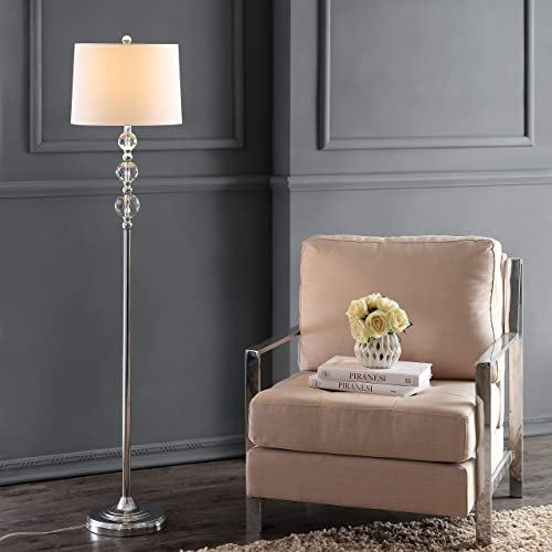 Safavieh LIT4175B Lighting Collection Venezia 61″ Clear and Chrome Floor Lamp