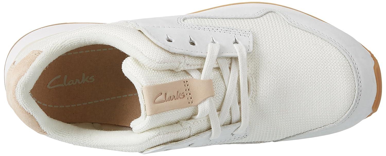 Clarks Weiß Damen Floura Mix Sneaker Weiß Clarks (Weiß Combi) 6db2bd