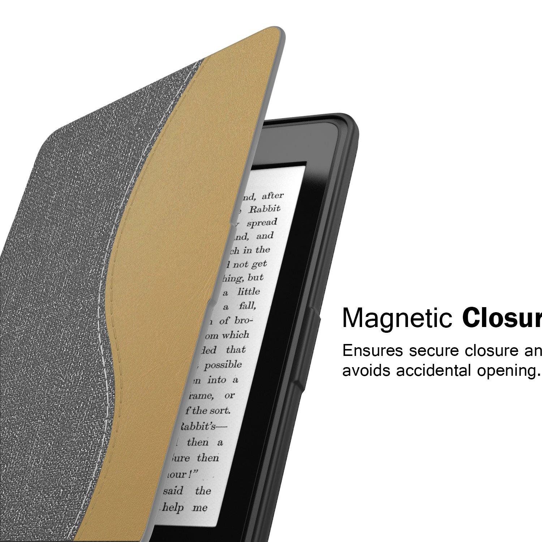 Coreopsis Ambos 2012, 2013, 2015 y 2016 Versi/óns Ultra Slim Ligera Smart Shell Case Cover con Auto Estela//Sue/ño para  All-New Kindle Paperwhite Moko Kindle Paperwhite Funda