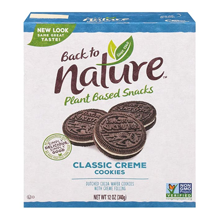 Back to Nature Cookies, Non-GMO Classic Creme, 12 Ounce (Pack of 6) (Packaging May Vary)