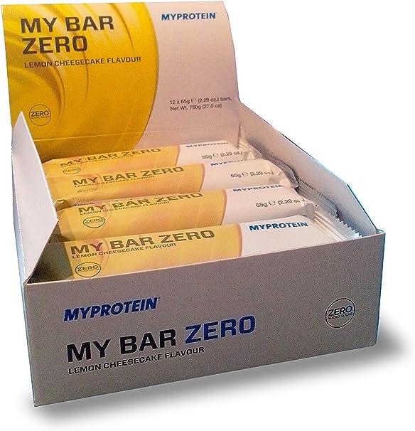 MyProtein Zero Barritas de Proteínas, Sabor Tarta de Queso de ...