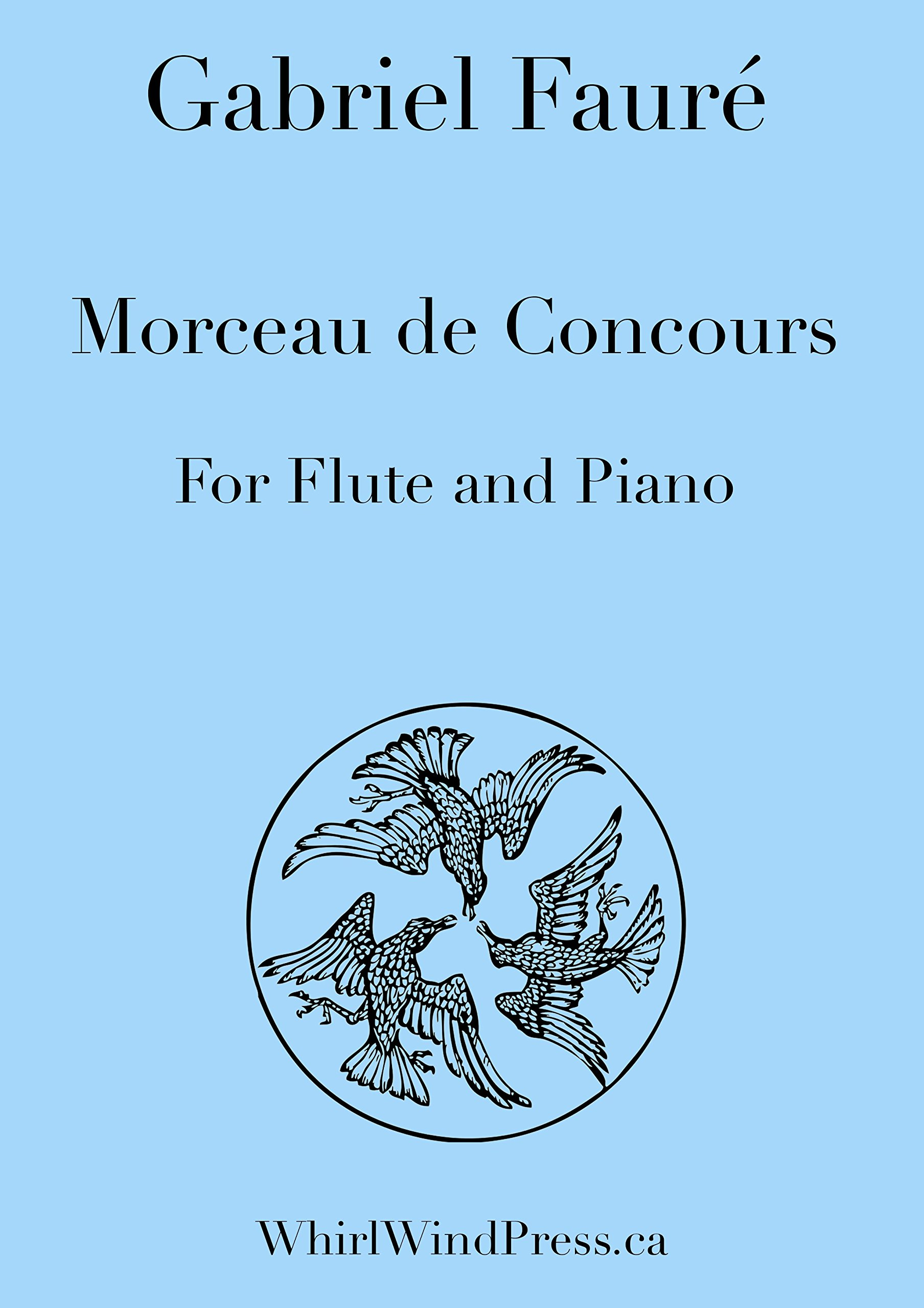 Morceau De Concours for Flute (Or Oboe) and Piano By Gabriel Fauré
