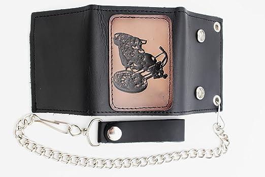 Amazon.com: tfj Hombres Moda Negro Moto Motocicleta Wallet ...