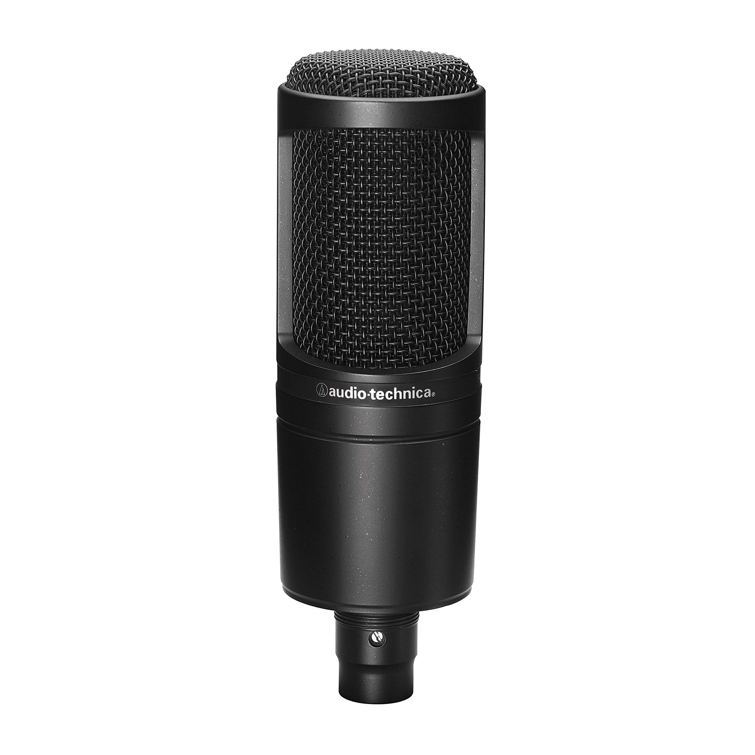Audio-Technica AT2020 Cardioid Condenser Studio XLR Microphone, Black by Audio-Technica (Image #3)