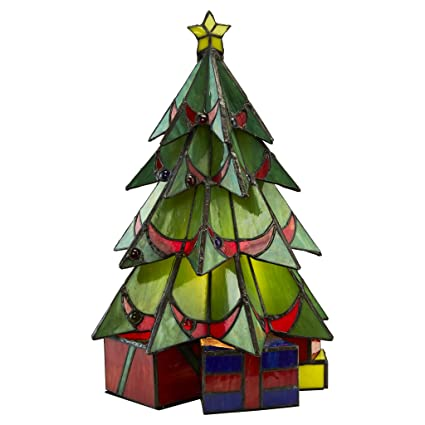 christmas decorations christmas tree tiffany stained glass lamp holiday decor