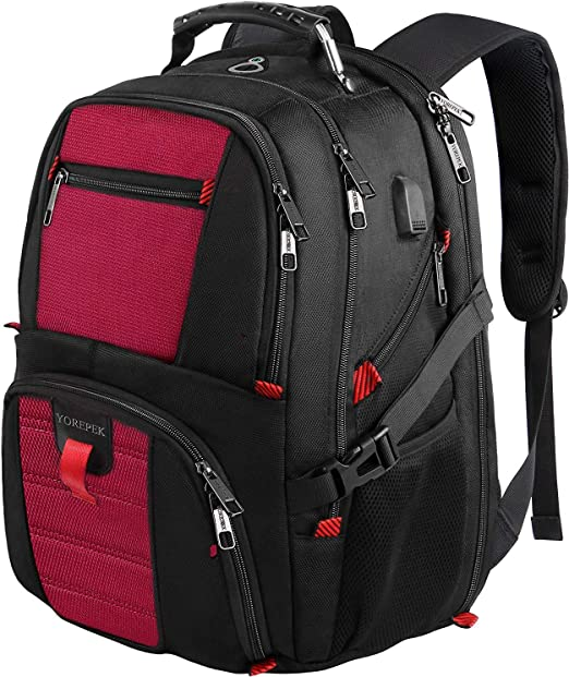 Backpack for Laptops with USB Charging Port, 17Inch